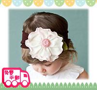 百日宴bb嬰兒影相用品/女童派對髮飾~大荷蓮粗身頭飾髮帶 小童飾物 兒童髮飾 Elastic Flower Headband H081 現貨