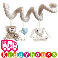 bb嬰兒玩具~BabyPlay可愛小熊小兔嬰兒車床繞 T335 現貨