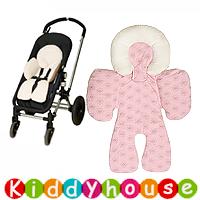 bb嬰兒用品/禮物精選~雙面連頭枕嬰兒手推車/BB Carseat 車墊(粉紅) OT080禮物首選  現貨