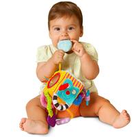 bb嬰兒玩具~感知訓練多巧能布積木車床掛 T480 現貨