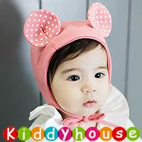 百日宴bb嬰兒影相用品/小童派對髮飾~超得意小老鼠大耳仔帽(粉紅) H613 現貨