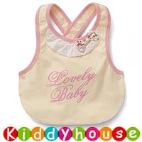 嬰兒bb用品~日系純棉小公主口水肩圍裙(Lovely Baby) BB1306 現貨