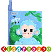 bb嬰兒玩具~可愛馬騮仔早教嬰兒布書 T496 現貨