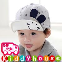 嬰兒BB男女童髮飾~型仔小公主/小王子小耳朵Cap帽(灰色) H460 現貨