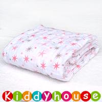 BB嬰兒用品~純棉嬰兒抱毯/襁褓/包被(粉紅星星) BB1065 現貨