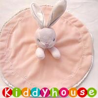 bb嬰兒玩具/禮物精選~超柔軟粉嫩貴族兔安撫巾 T440 現貨