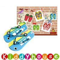 【限時特價】兒童用品~可愛童裝兒童沙灘人字拖鞋(藍校巴款) S0104 現貨