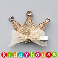 百日宴bb嬰兒/女童賀新年 派對髮飾物用品~閃閃皇冠小童嬰兒髮夾(每隻) Toddler Crown Hair Clip H560 現貨