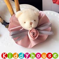 百日宴bb嬰兒/女童派對髮飾物用品~可愛立體裙仔小兔小童髮夾(每隻)  H631 現貨