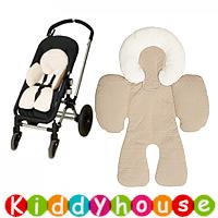 bb嬰兒用品/禮物精選~雙面連頭枕嬰兒手推車/BB Carseat 車墊(淺啡) OT081禮物首選 現貨