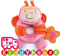 【限時特價】bb嬰兒玩具~可愛小蝴蝶手搖鈴觸感布玩具 T265 現貨