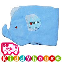 bb嬰幼兒用品~Sozzy可愛動物立體嬰兒肚圍/腹卷(藍小象) BB1181 現貨