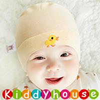 百日宴bb嬰兒/女童派對髮飾物用品~柔軟純棉小鴨魚BB帽(淡橙) Baby Hat H594 現貨