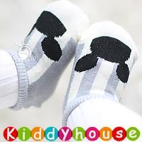 bb嬰兒用品~卡通嬰兒小童防滑襪(灰色) S359 現貨