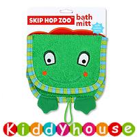 【限時特價】bb嬰兒/兒童用品~Skip Hop Zoo動物造型純棉毛巾質地沖涼/沐浴刷刷巾(青蛙款) OT125 現貨