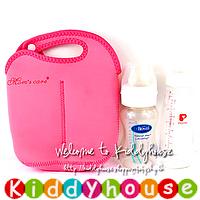 BB嬰兒用品~優質設計嬰兒奶瓶保溫袋(雙瓶裝桃紅色) OT169 現貨