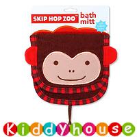 【限時特價】bb嬰兒/兒童用品~Skip Hop Zoo動物造型純棉毛巾質地沖涼/沐浴刷刷巾(猴子款) OT123 現貨