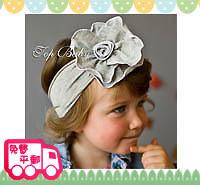 百日宴bb嬰兒影相用品/女童派對髮飾~潮B純灰色粗頭帶 小童飾物 兒童髮飾 Elastic Flower Headband H175 現貨