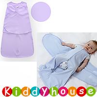bb嬰兒用品~Miracle純棉蠶蟲式防踢被襁褓睡袋(淡紫) BB1223 現貨