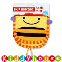 【限時特價】bb嬰兒/兒童用品~Skip Hop Zoo動物造型純棉毛巾質地沖涼/沐浴刷刷巾(蜜蜂款) OT126 現貨