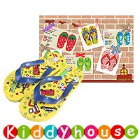 【限時特價】兒童用品~可愛童裝兒童沙灘拖鞋(黃色車車) S0109 現貨
