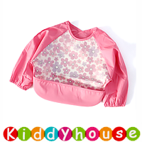 嬰兒bb用品~新款可愛EVA防水幼童口水肩 小圍裙飯衣(L碼) BB1501 現貨
