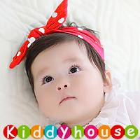 百日宴bb嬰兒/女童派對髮飾物用品~小公主波點蝴蝶結頭飾粗髮帶 Baby Headband H579 現貨