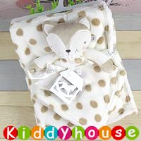 BB嬰兒用品~Rock a Bye Baby動物珊瑚絨毛毯+安撫巾套裝 BB1437 現貨