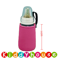 BB嬰兒用品~優質設計嬰兒奶瓶闊口保溫袋(桃紅/10cm高) OT113 現貨