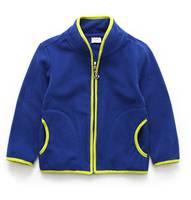 秋冬季韓國款男童女童兒童長袖摇粒絨外套 藍色 #KT1720-G3