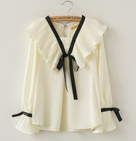 秋裝韓國款加大碼女裝圍衣長袖衫 #8567