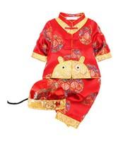 幼兒兒童男女童春秋款中國唐裝新年裝賀年服套裝  #8110