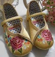 幼兒兒童女童中國唐裝新年裝賀年服 民族傳統服繡花布鞋 #PO8089