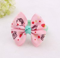 BB幼童女童髮飾頭飾 粉色蛋糕毛絨髮繩髮圈一對  #7221-P