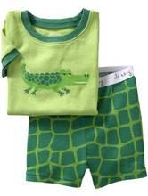 (7折) 男童女童幼兒短袖睡衣家居服  鱷魚 綠 #PS1388-K1