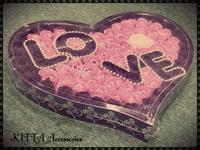 ❤ 情人節/生日/聖誕網上訂花  (現貨) ❤ 100朵皂玫瑰花LOVE禮盒(加玫瑰花LED燈)