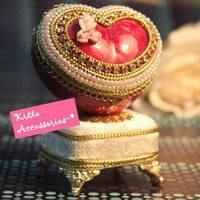 情人節/母親節禮物推介 - 浪漫愛心玫瑰蛋雕 天空之城 音樂盒