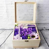 【情人節禮物推介】2017新款手工香皂花木質大禮盒 (送女友/老婆/姊妹)