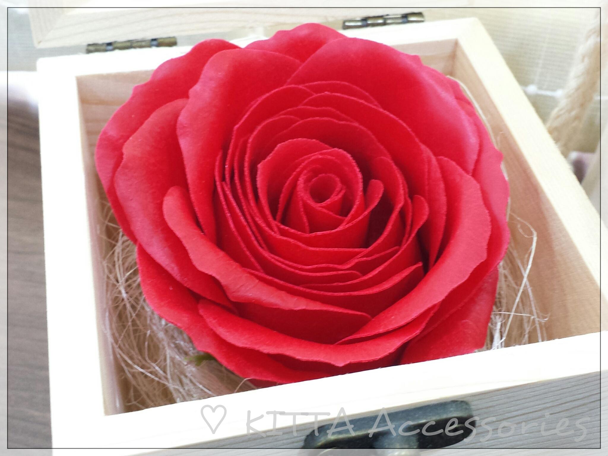 高檔香皂花配保鮮花禮盒