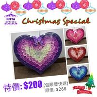【聖誕禮物預訂優惠】漸變色香皂玫瑰花心型禮盒(紅/粉紅/紫色/藍色四色選)