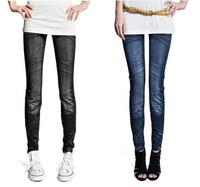 【現貨】35007 百搭仿真牛仔褲/窄腳褲 Legging (皺摺款)