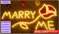 【情人節求婚推介】浪漫電子蠟燭玫瑰套餐- 求婚套餐B