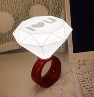 愛的承諾 ♡ I LOVE U 大鑽戒燈 (聖誕禮物 結婚佈置 求婚道具用品 實用禮物推介
