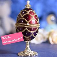 創意情人節禮物 ❤ 高貴鑲鑽金邊蛋雕天空之城音樂盒