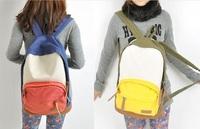 BAG1098 韓版潮流撞色帆布背囊/書包