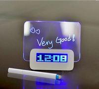 實用情人節禮物推介2018 - 手寫LED螢光留言板多功能時鐘/鬧鐘