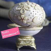 浪漫情人節禮物精選 ❤ 可愛珍珠花兒造型蛋雕首飾盒音樂盒