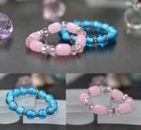 藍珠 & 粉珠手鏈