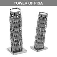 [小朋友禮物推介] 益智玩具DIY 立體金屬砌圖模型 - 世界建築比薩斜塔