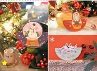 ★ 聖誕禮物★ 韓國聖誕賀卡/聖誕佈置 - 聖誕樹款 (10張)